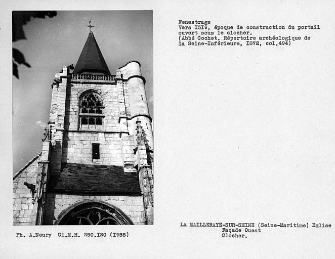 Fenestrage du clocher, façade ouest