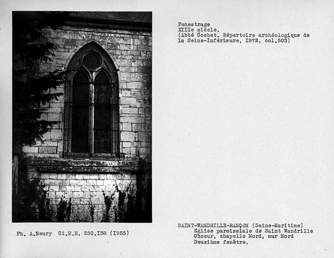 Fenestrage de la chapelle nord du choeur, deuxième fenêtre