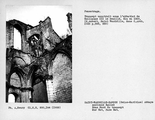 Fenestrage du bras nord du transept, mur est, face est