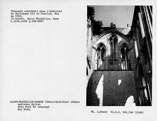 Feenstrage du bras nord du transept, mur nord