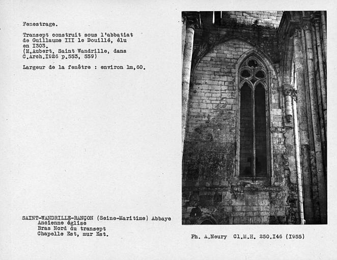 Fenestrage du bras nord du transept, chapelle ouvrant à l'est