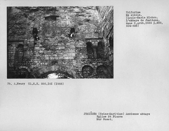 Arcades du mur ouest, triforium