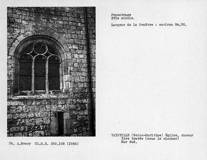 Fenestrage du choeur, mur sud, première travée sous le clocher