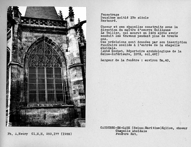 Fenestrage est restauré de la chapelle absidiale