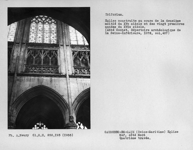 Triforium de la quatrième travée côté nord de la nef
