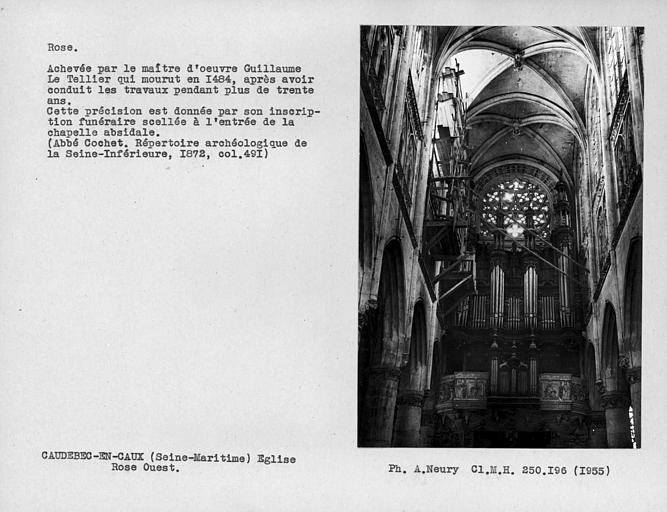 Rose du mur ouest de la nef, intérieur