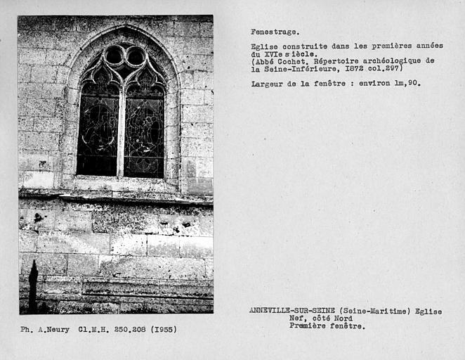 Fenestrage de la nef, première fenêtre du côté nord