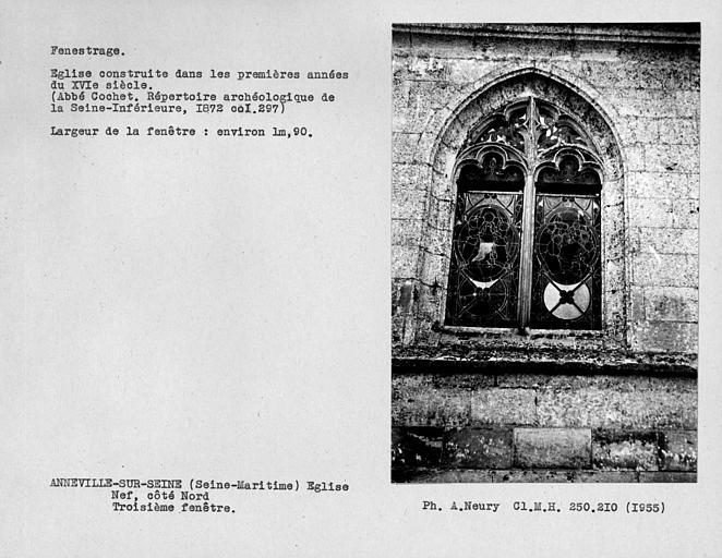 Fenestrage de la nef, roisième fenêtre du côté nord