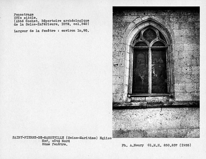 Fenestrage de la nef, deuxième fenêtre côté nord