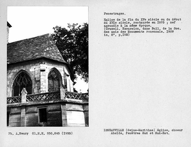 Fenestrages sud et sud-est de l'abside