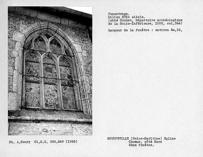 Fenestrage du choeur, deuxième fenêtre côté nord