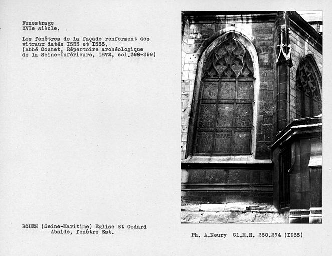Fenestrage est de l'abside