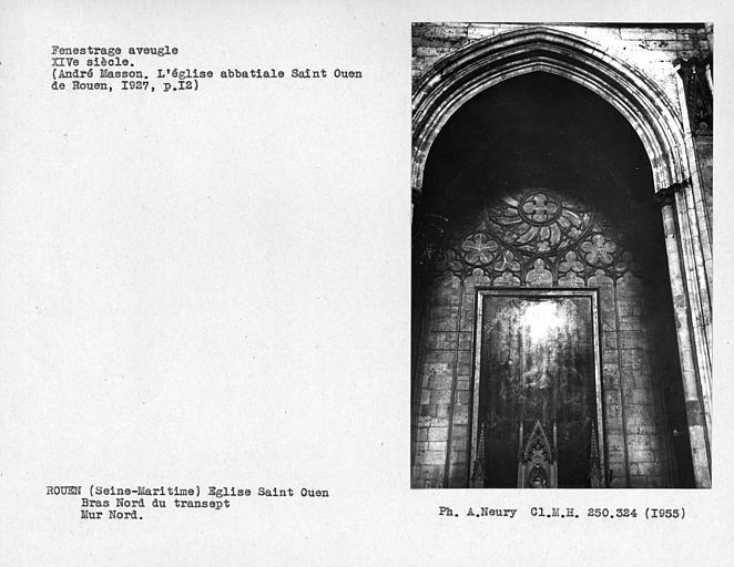 Fenestrage aveugle du bras nord du transept, mur nord