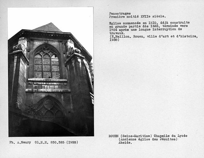 Fenestrages de l'abside