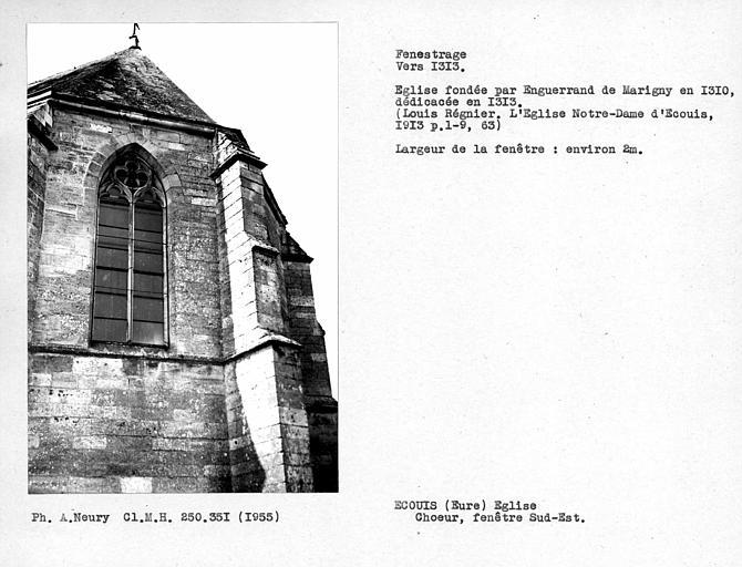 Fenestrage sud-est de l'abside du choeur