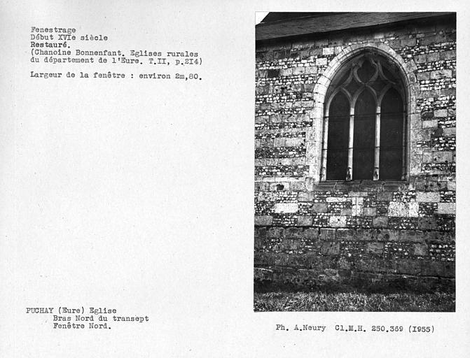 Fenestrage restauré du bras nord du transept