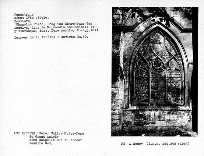 Fenestrage est restauré de la troisième chapelle sud du choeur