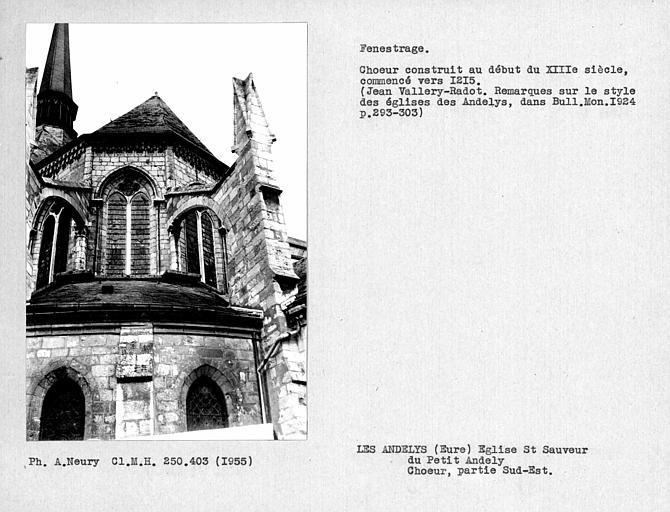 Fenestrage de la partie sud-est de l'abside du choeur