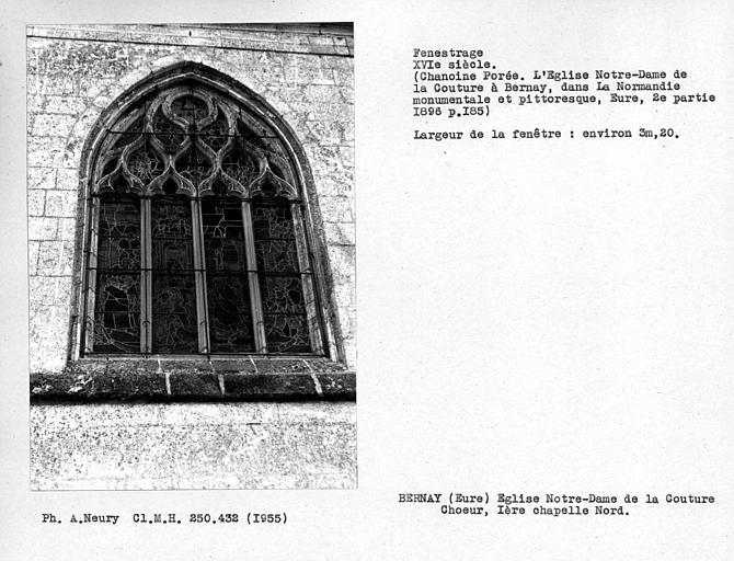 Fenestrage de la première chapelle côté nord du déambulatoire