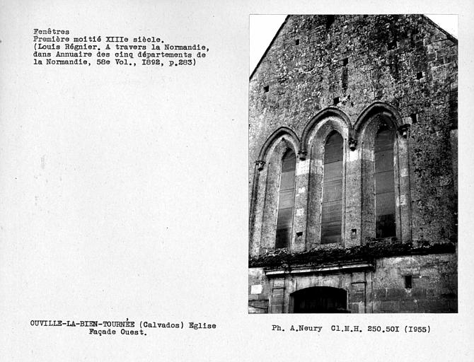 Fenestrages de la façade ouest