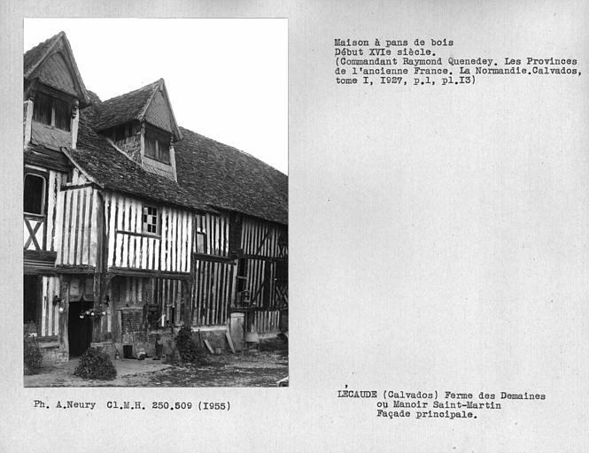 Détail de la façade principale en pan-de-bois