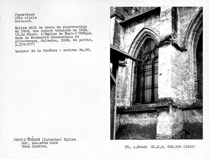 Fenestrage restauré du bas-côté nord de la nef