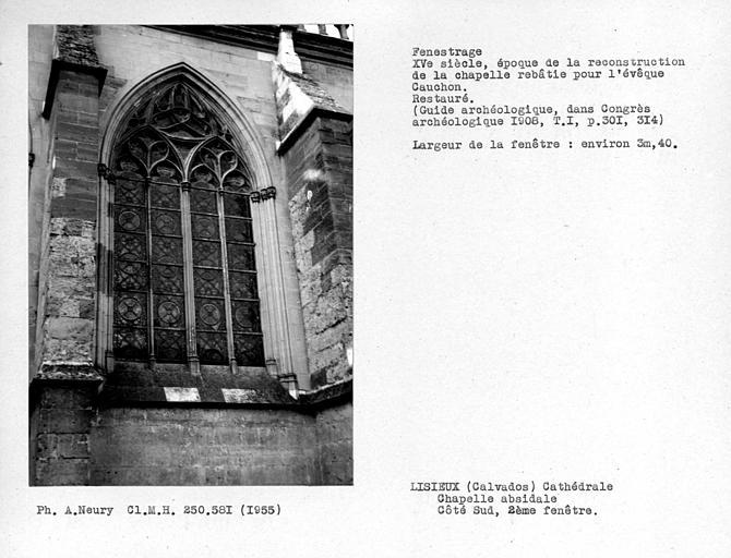 Fenestrage sud de l'abside