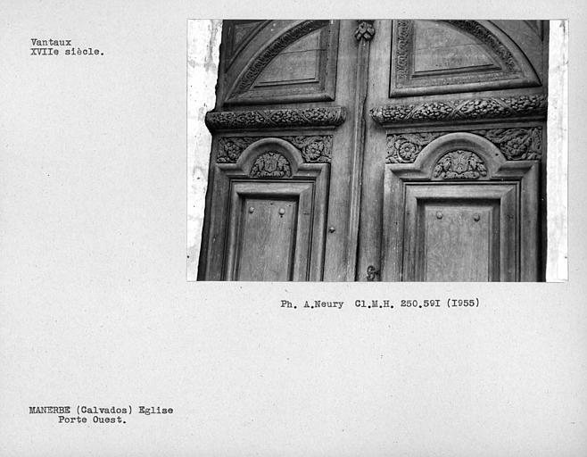 Vantaux de la porte ouest, détail
