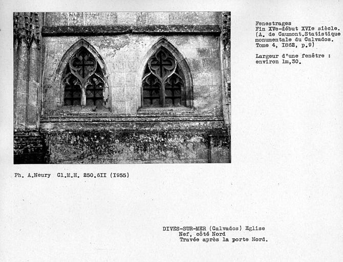 Fenestrages nord de la quatrième travée de la nef