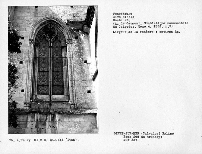 Fenestrage est restauré du bras sud du transept