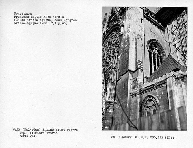 Fennestrage de la première travée sud de la nef