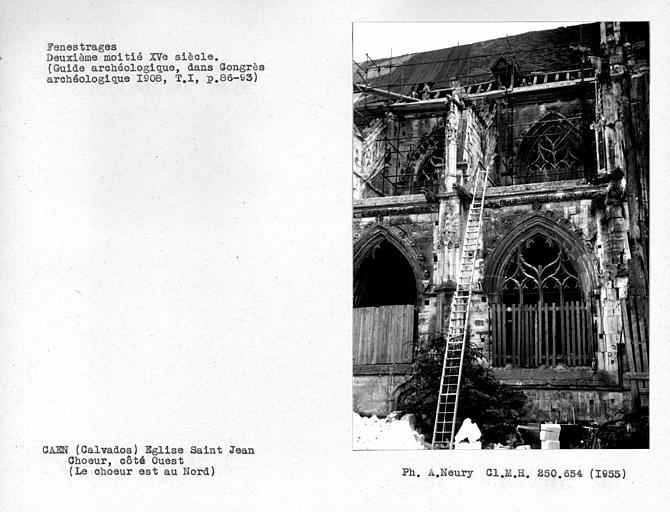 Fenestages et fenêtres hautes du choeur de la première chapelle côté ouest
