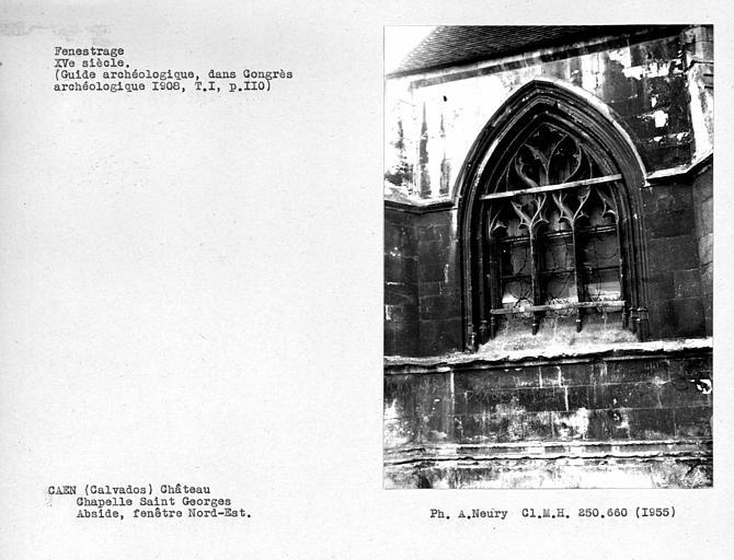 Fenestrage nord-est de l'abside de la chapelle Saint-Georges