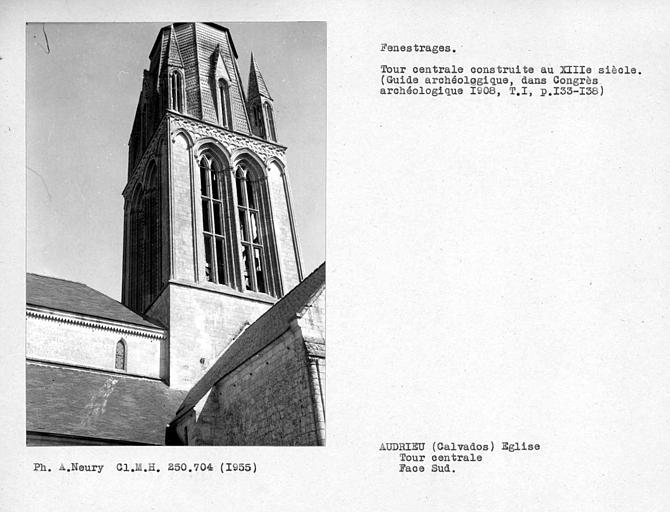 Fenestrages de la face sud du clocher