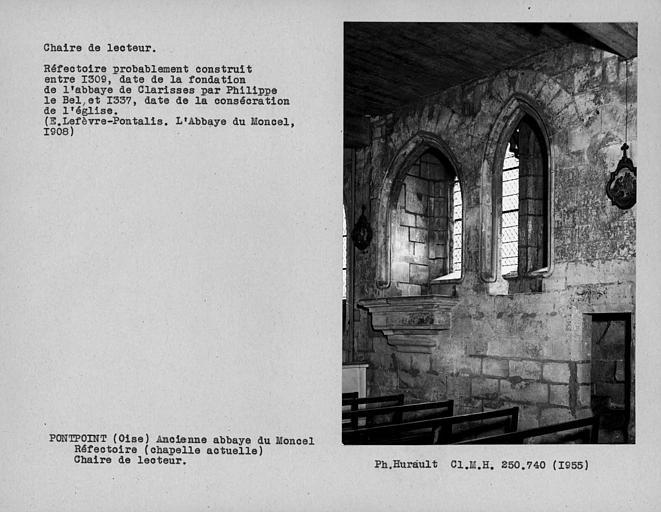 Chaire de lecteur de l'ancien réfectoire, actuelle chapelle