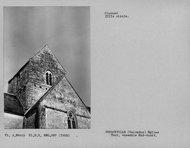Côté sud-ouest du clocher