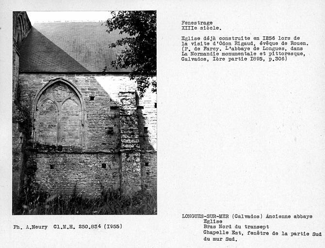 Fenestrage sud du bras nord du transept de l'église