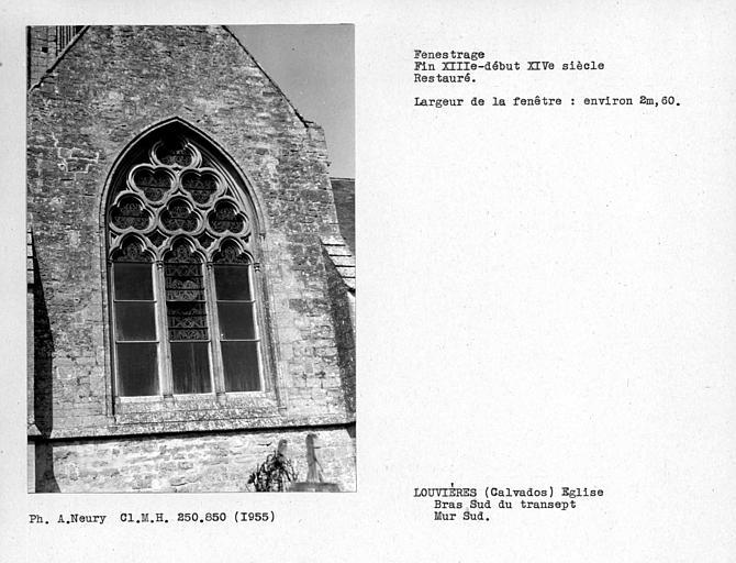 Fenestrage sud restauré du bras sud du transept