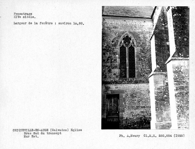 Fenestrage est du bras sud du transept