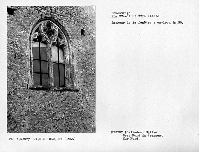 Fenestrage di bras nord du transept