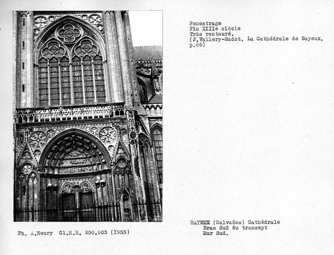 Fenestrages restaurés du bras sud du transept