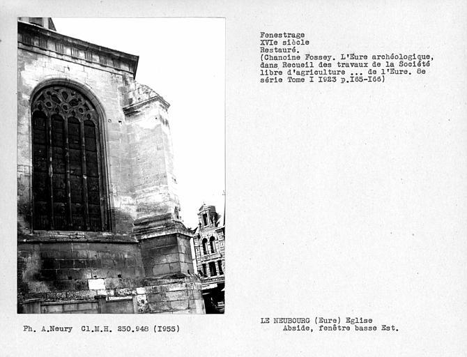 Fenestrage est restauré de l'abside