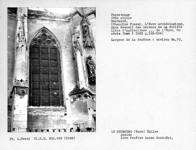 Fenestrage nord-est restauré de l'abside