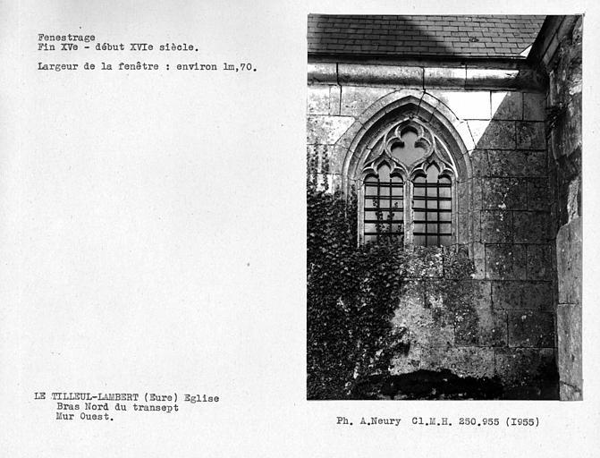 Fenestrage ouest du bras nord du transept