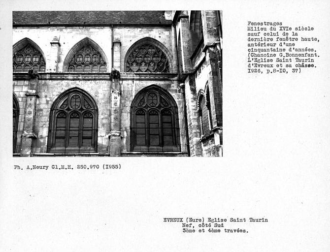 Fenestrages sud de la nef, troisième et quatrième travées