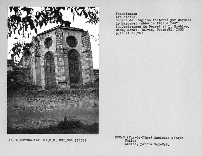 Fenestrages sud-est de l'abside