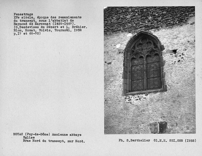 Fenestrage du bras nord du transept, fenêtre du mur nord