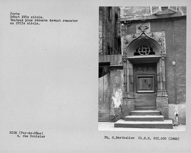 Porte et vantaux