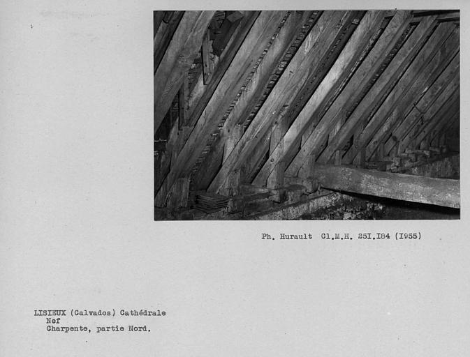 Charpente de la nef. Semelles, partie nord