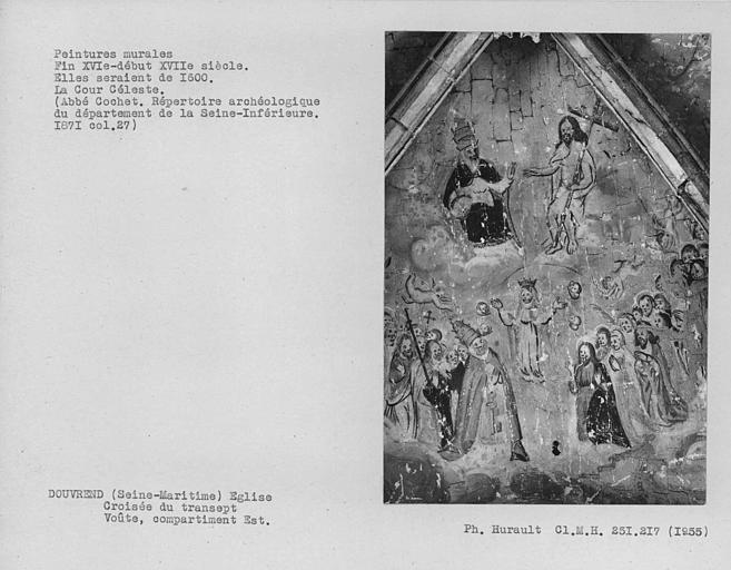 Peinture murale du compartiment est de la croisée du transept : Sainte Trinité et Cour céleste